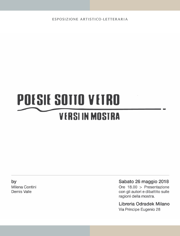 Poesie sotto vetro - Versi in mostra